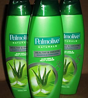 Lot of 3 Palmolive Naturals Shampoo & Conditioner 2in1 Healthy & Smooth for Normal Hair 180mL/pk (Total 540mL)