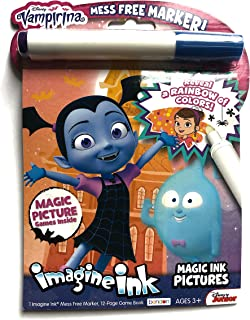 Disney Vampirina Imagine Ink Magic Ink Pictures Activity Book (12-Page Game Book and 1 Mess Free Marker)
