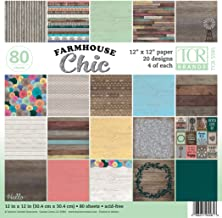 Teacher Created Resources 12 x 12 Farmhouse Chic Scrapbook Project Paper Pad, 12-x-12-Inch (TCR5581)
