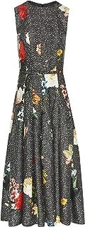 Oscar de la Renta Silk Chiaroscuro Herringbone Dress