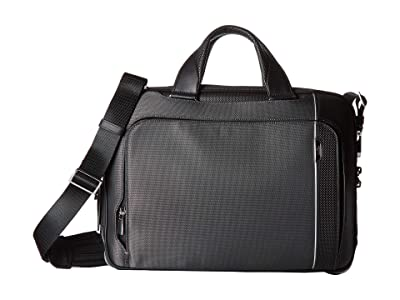 Tumi Arrive Sadler Brief (Pewter) Briefcase Bags