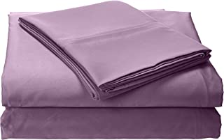 Egyptian Cotton Percale 350 Thread Count Deep Pocket Sheet Set Queen Lavender