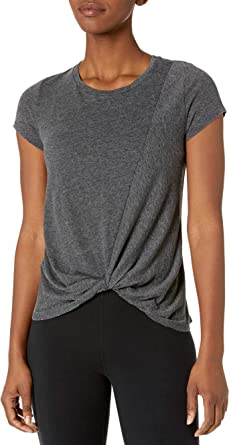 Core 10 Women's Standard Tri-Blend Short-Sleeve Twisted Front Tee