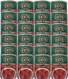 Bote de tomate de pera entero pelado marca Éxito 390 g.PACK