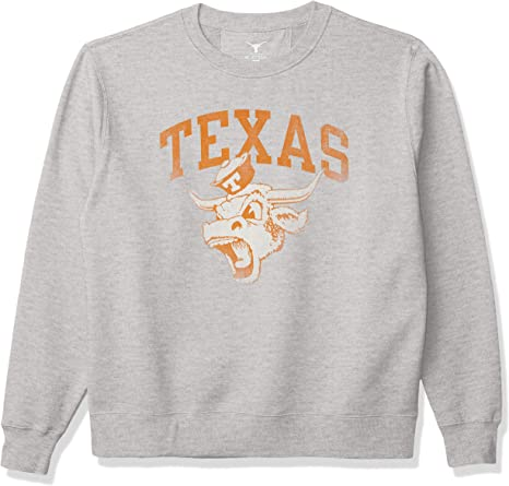 University of Texas Authentic Apparel Mens Worn Angry Bevo Hoodless Pullover