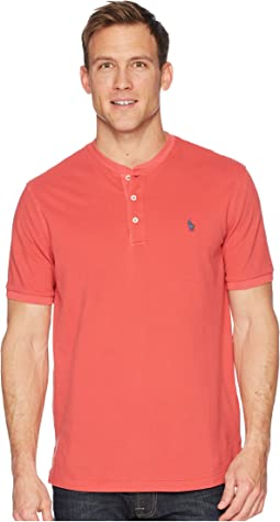 Polo Ralph Lauren Featherweight Mesh Short Sleeve Knit Henley