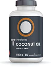 Coconut Oil Capsules 1000mg Extra Virgin 180 Softgels Cold Pressed Oil Potency Gluten Free Trans-Fat Free by Transforme Estimated Price : £ 11,99