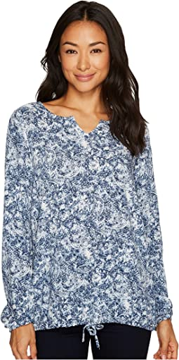 Paisley Popover Long Sleeve Blouse