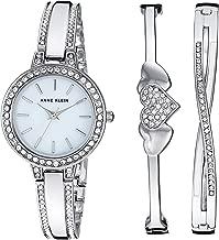 Anne Klein Women's AK/3355 Swarovski Crystal Accented Watch and Bangle Set