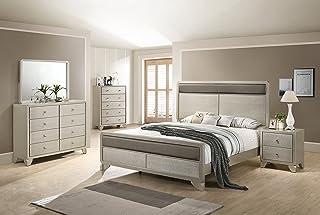 Amazon.com: Silver - Bedroom Sets / Bedroom Furniture: Home ...