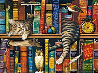 Buffalo Games - The Cats of Charles Wyoscki - Frederick The Literate - 750 Piece Jigsaw Puzzle