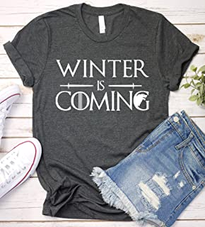 Winter Is Coming T-Shirt, Game Of Thrones Shirt TV Shov Tshirt Long Sleeve, Short Sleeve, V-Neck, Sweatshirt, Hoodie