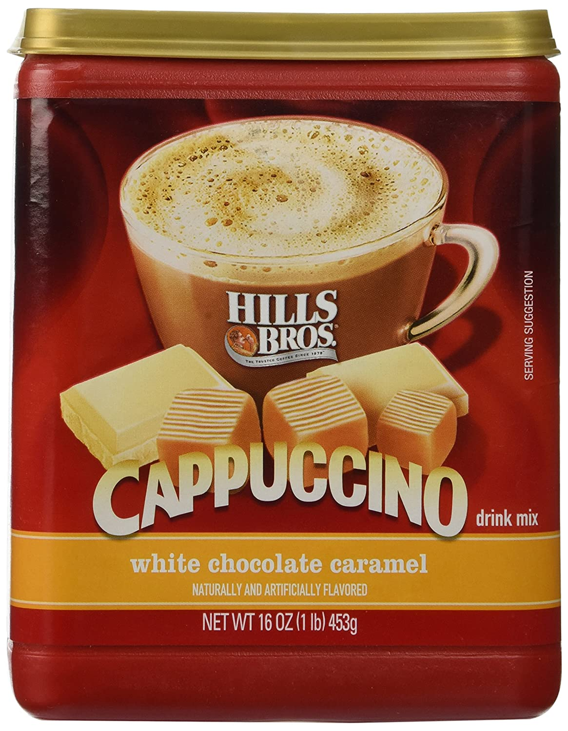 Hills Bros. Instant Cappuccino Mix Capp Caramel Fashionable White Tucson Mall Chocolate