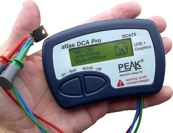 Analizzatore pro-avanzato del semiconduttore dell`atlante di progettazione elettronica di picco dca75