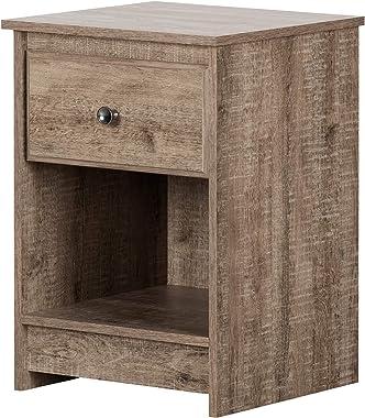 South Shore Furniture Tassio 1-Drawer Nightstand-Weathered Oak