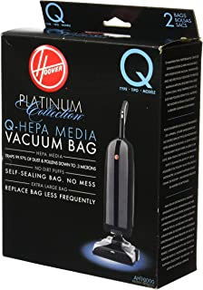 Hoover AH10000 Platinum Type-Q HEPA Vacuum Bag, 2 Count