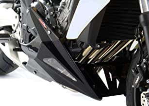 TRIUMPH STREET TRIPLE 13-16/STREET TRIPLE R 13-18/STREET TRIPLE RS 17-18 / STREET TRIPLE S 17-18 Bellypan Lower Fairing Glossy Black Silver Vents Powerbronze 320-T102-603