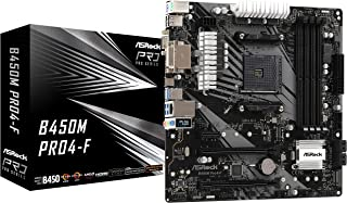 Asrock B450M PRO4-F Socket AM4/ AMD Promontory B450/ DDR4/ Quad CrossFireX/ SATA3&USB3.1/ M.2/ A&GbE/MicroATX Placa Base