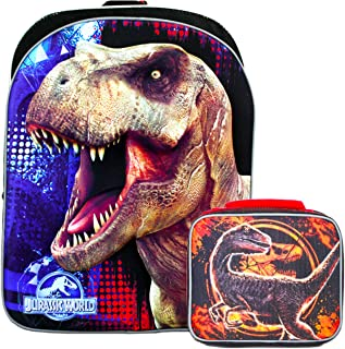 Jurassic World Backpack and Lunch Box Set for Boys Kids ~ 6-Pc Deluxe 16