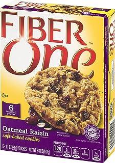 GMI FIBER ONE COOKIES 6 Piece Oatmeal Raisin Soft-Baked Cookies Box, 6.6 oz