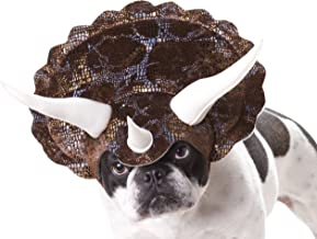 Brown_Triceratops Dog Costume