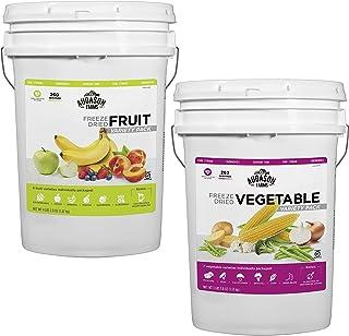 Augason Farms Freeze Dried Fruit & Veggie Variety Combo Pail Kit