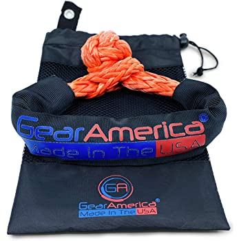 Super Rope Soft Shackle with Protective Sleeve for 4x4 Recovery ATV BOGOUT 2 x Soft Shackle Set Truck Jeep 1//4 Inch x 11 Inch Loop Boating 10,000lbs Break Strength 2 Pack