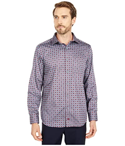 Johnston & Murphy Foulard Print Shirt (Burgundy) Men