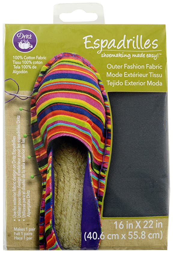 Dritz Espadrilles Outer Fashion Fabric, 16