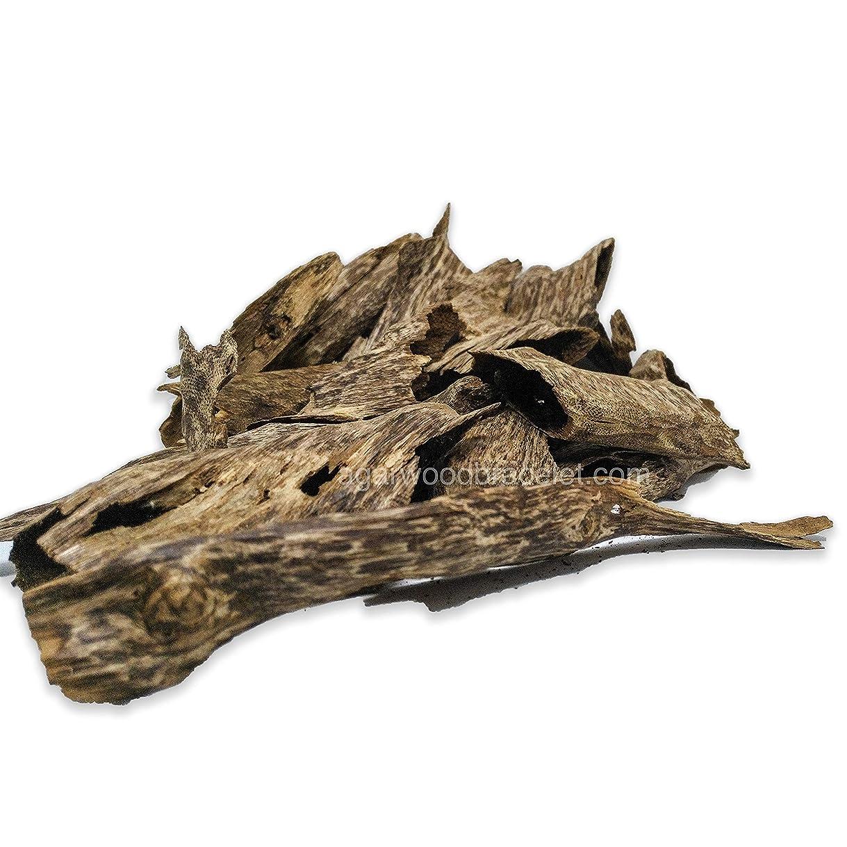 聖域管理者汚れる沈香ブレスレット|高元Natural Wild Agarwood OudチップGrade A + | 100グラム# th52
