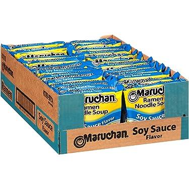 Maruchan Flavor Ramen Noodles, Soy Sauce, 3 Ounce (Pack of 24)