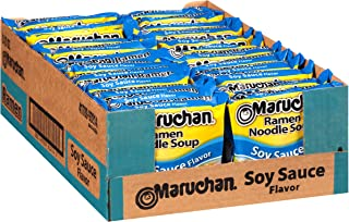 Maruchan Flavor Ramen Noodles, Soy Sauce, 3 Ounce (Pack of 24)