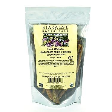 "Starwest Botanicals Organic 6"" Raíz de regaliz, 4 onzas"