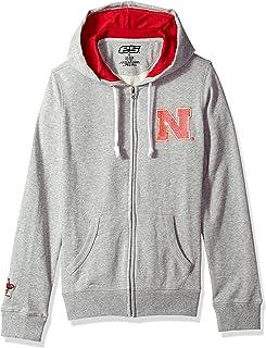 E5 Women's NCAA Full Zip Hoodie ،Nebraska ، رمادي ، S
