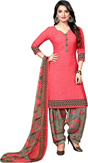 Rajnandini Women's Crepe Printed Unstitched Salwar Suit Material (Free Size)