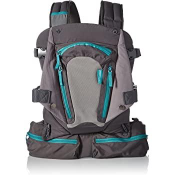 Infantino Carry On Baby Carrier with 6 Pockets for Diapers, Wipes, Pacifier, Phone & Keys and Ergonomic Seat