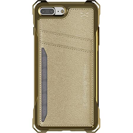 Ghostek Exec Card Holder Wallet Case Designed for iPhone 7 Plus and iPhone 8 Plus - (Gold)