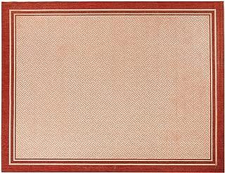Gertmenian 21361 Nautical Tropical Carpet Outdoor Patio Rug, 8x10 Large, Border Red