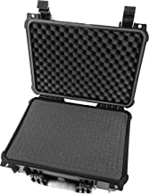STUDIOCASE 16 inch Customizable Wireless Microphone System Hard Case Fits Sennheiser, Shure, Audio-Technica, Nady, VocoPro, AKG Receiver, Body Transmitter, UHF Headset, Lavalier and Handheld Mics