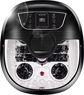 ACEVIVI Foot Spa Bath Massager with Heat and Massage and Bubble Jets, Motorized Shiatsu..