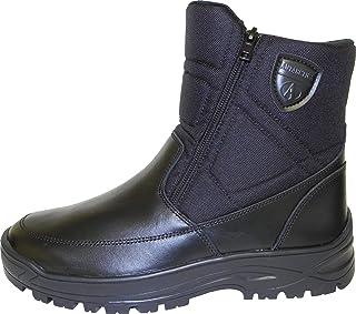 Chaussures d'hiver pour homme, bottes à neige, bottes avec fausse fourrure et doublure chaude avec embrane, après-ski