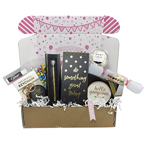 Birthday Gift Basket Box For Women Stationary Set Mom Aunt Sister