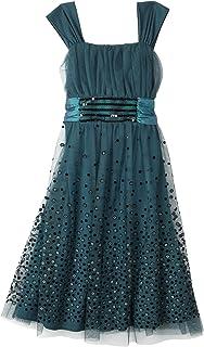 Bonnie Jean Big Girls' Dress with Glitter Dots On Skirt