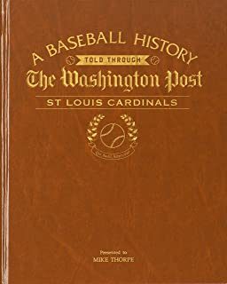 Personalized Baseball Newspaper Book- Your Teams Baseball History Captured in Time- Copy of Your Teams Special Moments in a Bound Hard Back