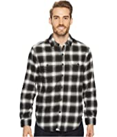 True Grit - Redford Plaid Long Sleeve Two-Pocket Shirt with Chambray and Stitch Detail