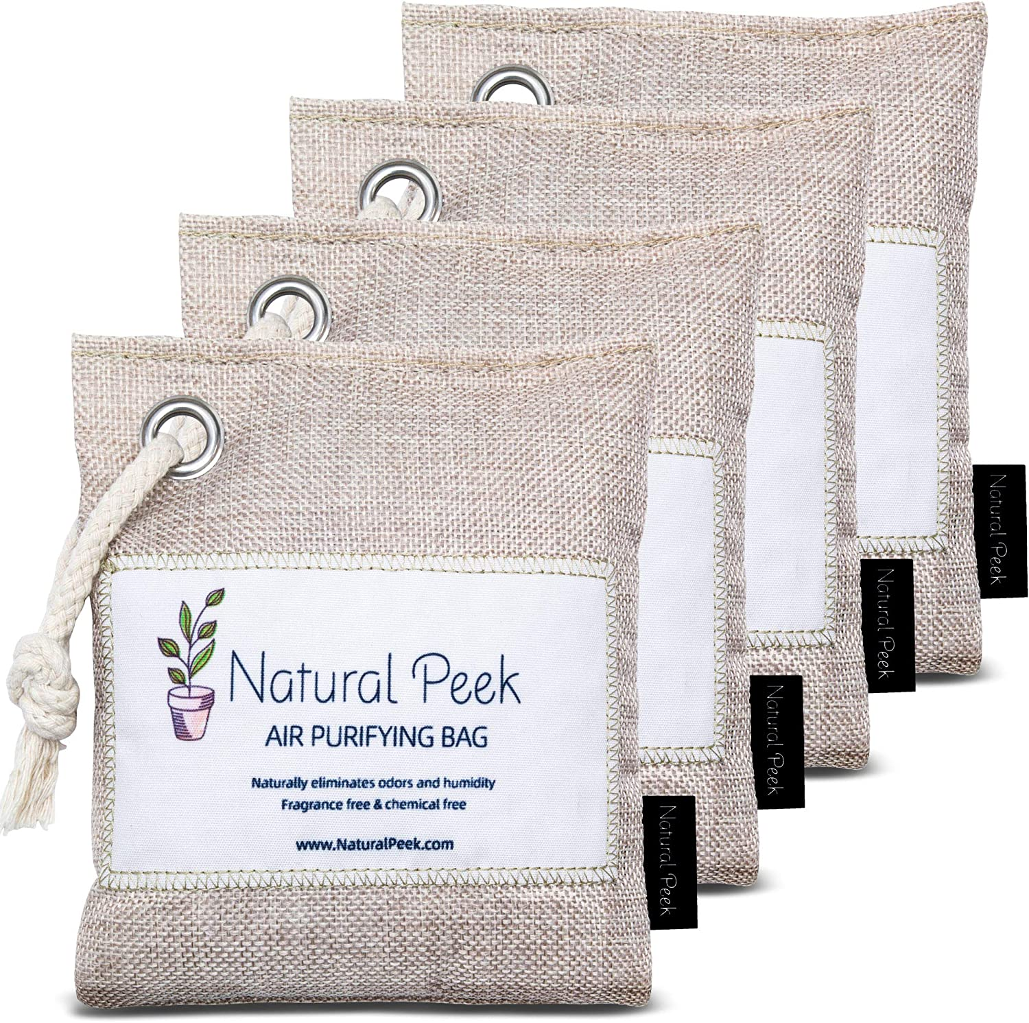 Natural Limited time cheap sale Peek NEW Bamboo Charcoal Air Bag Od – Purifying