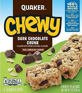 Quaker Chewy Granola Bars, Chocolate Chunk, .84oz 8 count, 6.7oz
