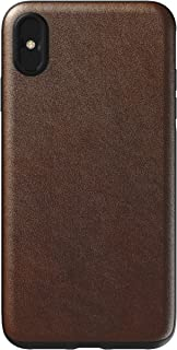 Nomad Rugged Case for iPhone Xs Max | Moment Lens Edition | Rustic Brown Horween Leather