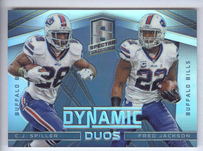 2014 Spectra Dynamic Duos Prizms Long Beach Mall Black Jacksonville Mall #1 Spiller Fred Ja C.J.