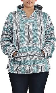 Baja Joe Striped Hoodie Woven Eco-Friendly Pullover (Large, Pastel Mint)